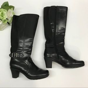 Clark women's riding boots black color Sz 6.5 B